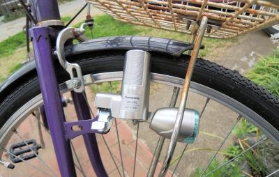 軽い自転車のライト ダイナモ ...